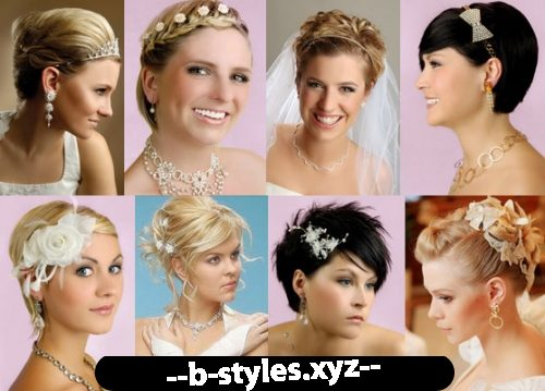 Прическа на свадьбу на короткие волосы пошагово