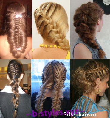 Французская коса плетение легко