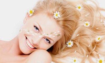 Ромашка для волосся - вибір блондинок