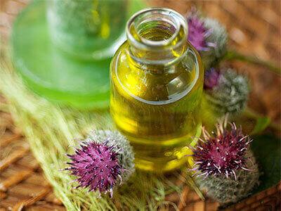 Реп'яхова олію для волосся
