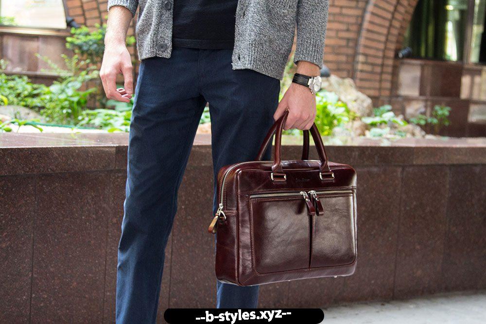 Чоловіча шкіряна сумка