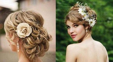 Зачіска з квіткою
